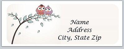 30 Owls Personalized Return Address Labels Buy 3 get 1 free (bo213)
