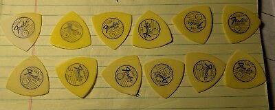 SPRING SALE NOS Fender 1980s Era Rare color logo 351 thin fetti picks 1 DOZEN