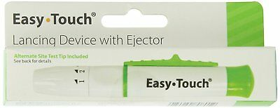 EasyTouch Premium Adjustable Lancing Device - 5 Settings - Fits Most Lancets