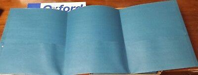 Oxford Tri-fold Executive Pocket Folders Letter Size Light Blue Pack Of 20