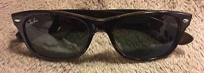 Ray Ban Sunglasses New Wayfarer RB2132 52 18 Tortoise Green G15 Lenses