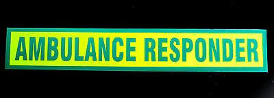 Ambulance Responder Green Reflective Magnetic Sign