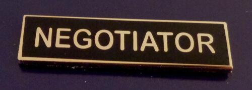NEGOTIATOR Gold on BLACK Uniform Commendation/Award Bar police/sherifff