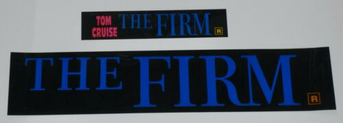 THE FIRM 1993 ORIGINAL MOVIE THEATRE MARQUEE LIGHT BOX STRIP SET OF 2 TOM CRUISE