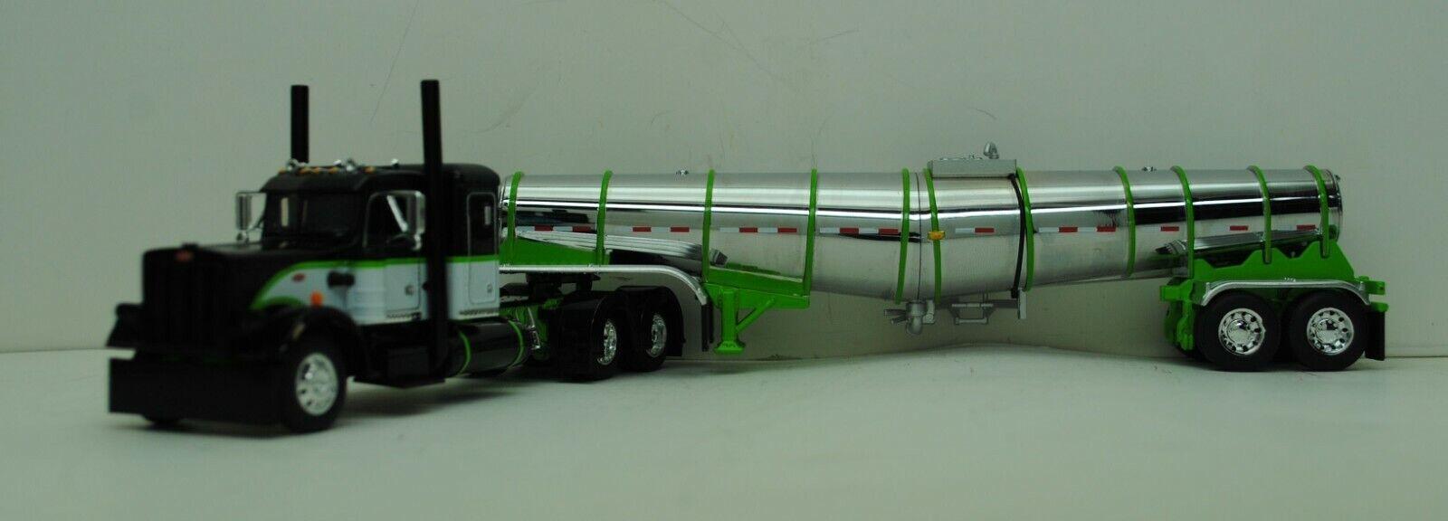 DCP 1/64 SCALE 359 PETERBILT SMALL BUNK LIME GREEN, BLACK, WHITE & POLAR TANKER  1