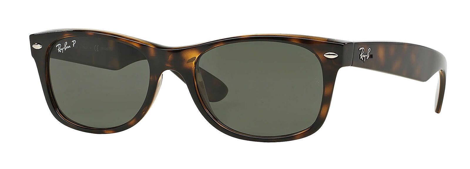 a18aa2ea42d Ray-Ban New Wayfarer Classic Sunglasses RB2132 902 58 55-18 Green ...
