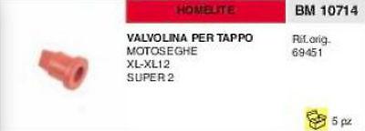 69451 Válvula De Tapa Del Tanque Gasolina Motosierra Homelite XL XL12 Super...