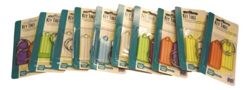 Key ID Tags With Flap & Split Ring 20 Piece Assorted Colors Lucky Line 12302