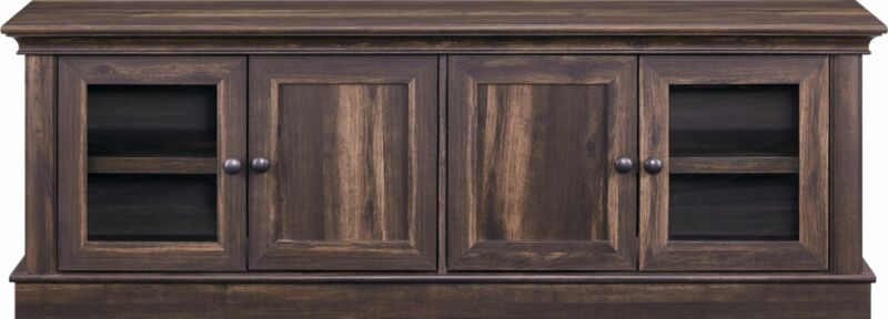 """Insignia- TV Cabinet for Most Flat-Panel TVs Up to 75"""" - Brown"""