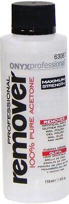 Acetone Nail Polish - (New) Onyx Professional 100% Acetone Nail Polish Remover 4oz