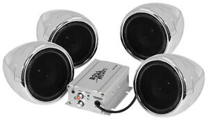 Boss Audio 1000w Bluetooth (4) Speaker+Amplifier Handlebar System Motorcycle/ATV