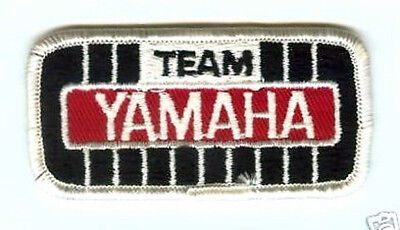 """New Vintage Embroidered  ~  Team Yamaha ~  3.5"""" X 1.5"""" Snowmobile Patch Blk/ Red"""
