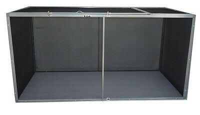 HORIZONTAL SCREEN REPTILE CAGE 48x24x24 - FREE SHIPPING!  ALUMINUM - New Design!