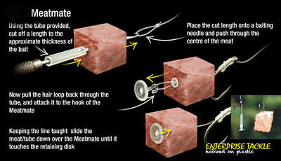 ENTERPRISE TACKLE MEAT MATE HAIRSTOPS CARP ,BARBEL CHUB 8 STOPS PER PACK
