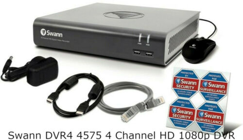 Swann DVR 4575 4 Channel HD 1080p DVR AHD TVI 1TB HDD CCTV Recorder HDMI VGA