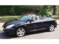 PEUGEOT 307CC (2005 Hardtop Convertible) White Leather Interior, Electric Roof & Windows, Air-Con...