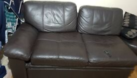 Black suite leather