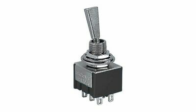 Ae Mts-21 Flat Lever Dpdt On-off-on Mini Toggle Switch 6a 125vac
