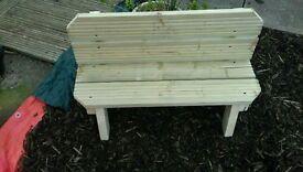 Small wooden kids garden bench