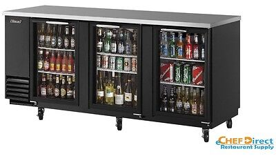 Turbo Air Tbb-4sg-n 90 3 Door Glass Back Bar Cooler