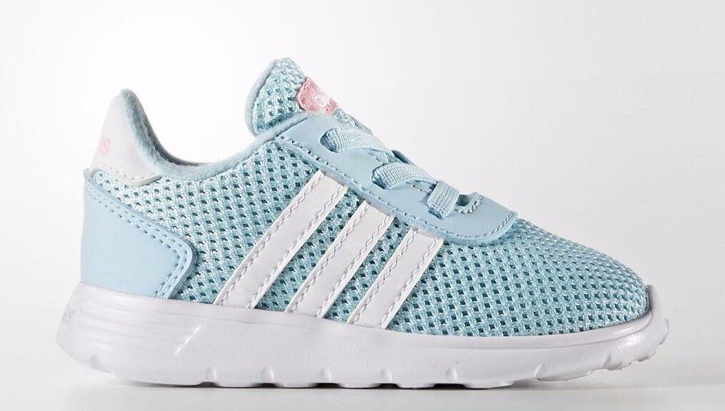 Infant Toddler Adidas NEO BC0078 Lite Racer Sneaker Ice Blue White Energy Aqua