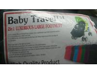 2 in 1 luxurious large footmuff..brand new!