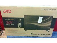 "JVC 32"" LED tv built in hd free view usb media player."