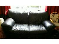 Free 2 and 3 seat leather sofas