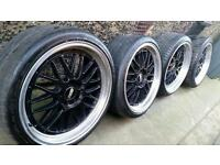 """19"""" BMW BBS LM CH Style Staggered Alloys 1 3 5 Series"""