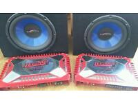 2 amps and 2 subs