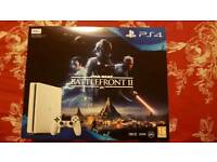 PS4 WHITE SLIM CONSOLE BATTLEFRONT 2 BRAND NEW AND SEALED PLAYSTATION 4