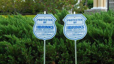 2 Sign   8 Pack Brinks Security Home Alarm Sign Adt L Reflective Decal Stickers