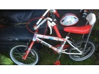 ONE DIRECTION CHILDS CHOPPER STYLE BIKE WITH MATCHING HELMET
