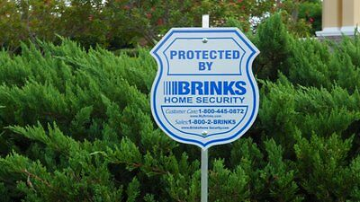 1 YARD SIGN 4 BRINKS SECURITY STICKERS HOME ALARM SIGN ADT