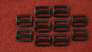 25-x-25mm-Black-Plastic-3-Bar-Slides-For-Webbing-Bags-Straps-Crafts