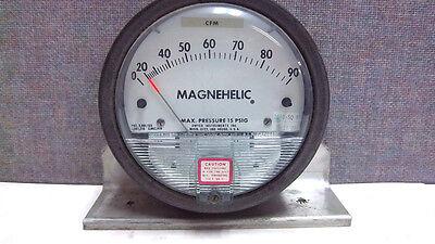 Dwyer Magnehelic Pressure Guage Max 15psig W521 Bb Used W521bb