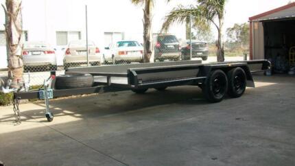 """16 x 6'6"""" Car Carrier Tandem Trailer White Hills Bendigo City Preview"""