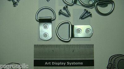 50 D RING PICTURE FRAME HANGERS 100 SCREWS FRAMING LG