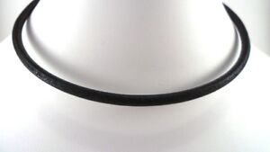 4mm smooth leather sterling silver necklace black brown natural u pick length