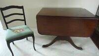 Duncan Phyfe Drop Leaf Table & Chairs, Plus Buffet.