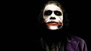 HEATH LEDGER THE JOKER BATMAN DARK KNIGHT QUALITY CANVAS ART PRINT A3 POSTER