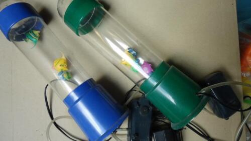 wassers ule lampe mit fischen 1x gr n 1 x blau in nordrhein westfalen langerwehe lampen. Black Bedroom Furniture Sets. Home Design Ideas