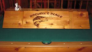 New Custom Bass Fishing Billiard Poker Pool Table Light With Your Name