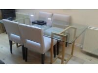 Toughened Glass Dining Table LOCATION KT17