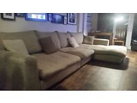Barker and Stonehouse modular sofa with chaise long