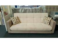 BRANDNEW AND BİG SALE!! THESE CREAM 3IN1 SOFAS ARE NOW £149.THEY ARE BOTH SOFA&MATTRESS&STORAGE