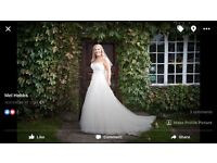 Beautiful by Enzoani ivory blush wedding dress size 14