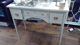 Small side table painted in Paris Grey in French style