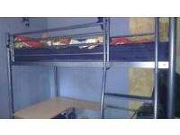John Lewis bunk bed with foldable futon/desk
