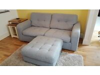 Harveys Qube 3 seater sofa and puffe with matching chair
